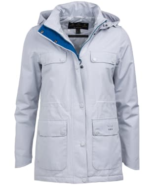 Women's Barbour Metric Waterproof Jacket - Ice White