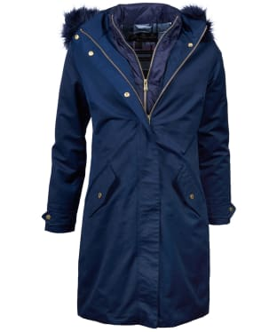 Women's Barbour Bute Waterproof Jacket - Navy