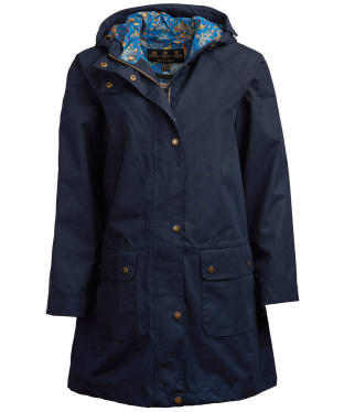 Women's Barbour x Emma Bridgewater Bryony Waterproof Jacket - Navy