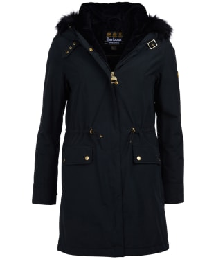 Women's Barbour International Clutch Waterproof Jacket - Black
