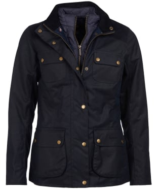 Women's Barbour Dene Wax Jacket - Navy