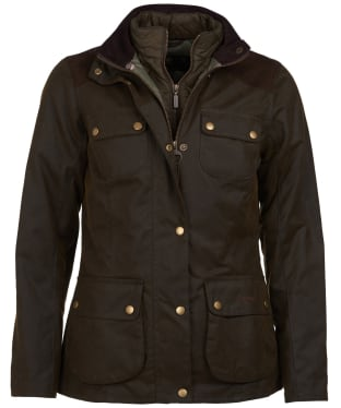 Women's Barbour Dene Wax Jacket - Olive