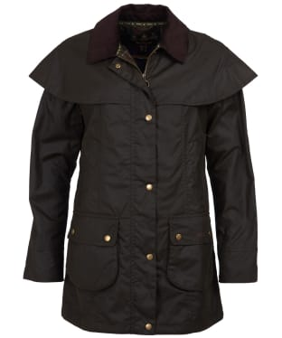 Women's Barbour Dipton Waxed Jacket - Olive