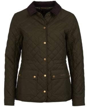 Women's Barbour Penshaw Waxed Jacket - Archive Olive