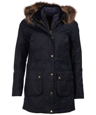Women's Barbour Thrunton Waxed Jacket - Navy