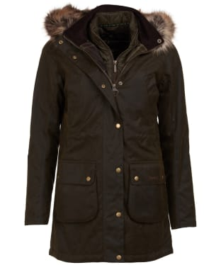 Women's Barbour Thrunton Waxed Jacket - Olive