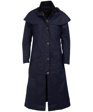 Women's Barbour Throckley Waxed Jacket - Royal Navy
