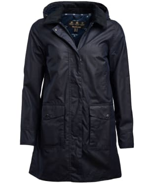 Women's Barbour Oyster Waxed Jacket - Royal Navy
