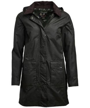 Women's Barbour Oyster Waxed Jacket - Sage