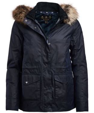 Women's Barbour Scallop Waxed Jacket - Royal Navy