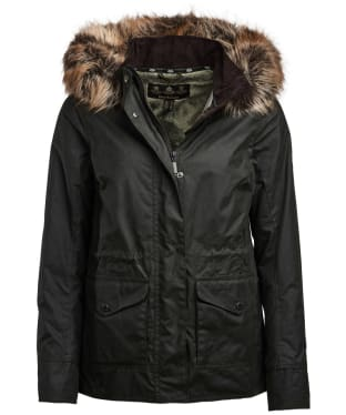 Women's Barbour Scallop Waxed Jacket - Sage