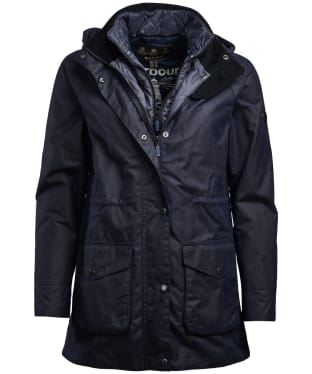 Women's Barbour Slipway Waxed Jacket - Royal Navy