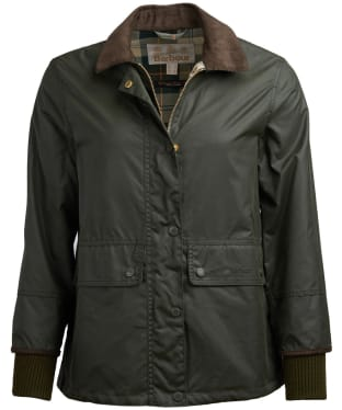 Women's Barbour Tawny Waxed Jacket - Duffle Green