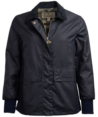 Women's Barbour Tawny Waxed Jacket - Navy