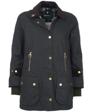 Women's Barbour Icons Beaufort Waxed Jacket - Sage