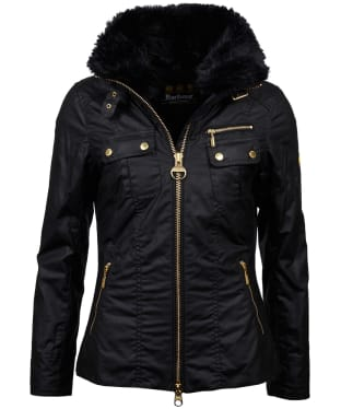 Women's Barbour International Ballig Waxed Jacket