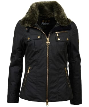 Women's Barbour International Ballig Waxed Jacket - Sage