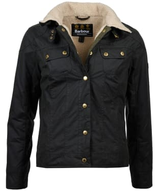 Women's Barbour International Garrow Waxed Jacket - Sage