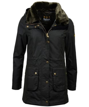Women's Barbour International Kirk Waxed Jacket - Sage