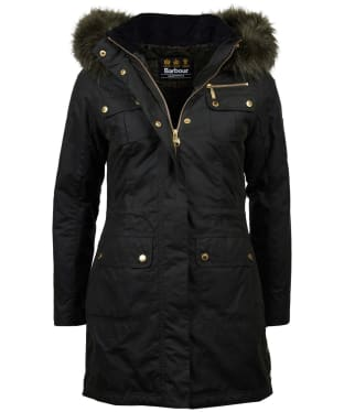 Women's Barbour International Ballacraine Waxed Jacket - Sage