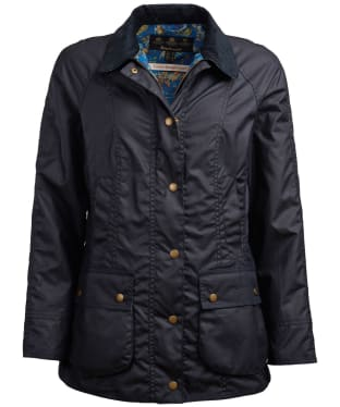 Women's Barbour x Emma Bridgewater Eleanor Waxed Jacket - Navy