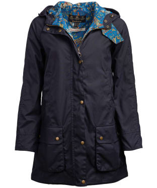 Women's Barbour x Emma Bridgewater Love Waxed Jacket - Navy