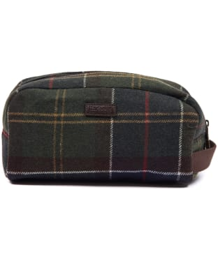 Barbour Tartan Wool Wash Bag - Barbour Classic