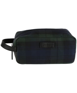 Barbour Tartan Wax Wash Bag - Black Watch