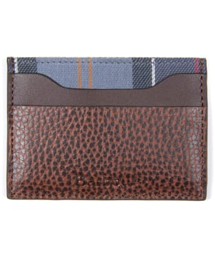 Men's Barbour Laddon Leather Card Holder - Brown