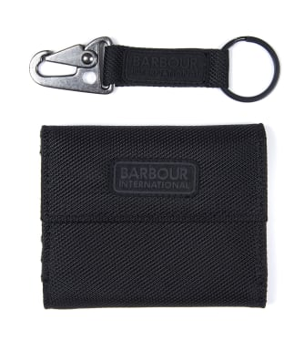 Men's Barbour International Wallet and Keyring Gift Set