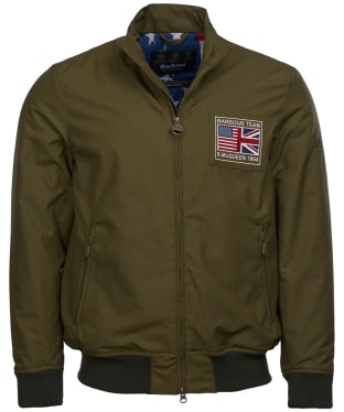 Men's Barbour Steve McQueen Linden Waterproof Jacket - Green