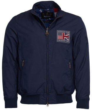 Men's Barbour Steve McQueen Linden Waterproof Jacket - Navy