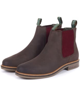Men's Barbour Farsley Chelsea Boot - Chocolate / Bordeaux