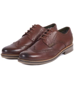 Men's Barbour Bamburgh Brogues - Dark Brown