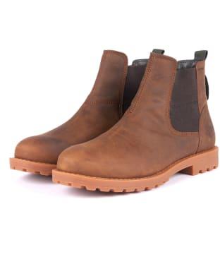 Men's Barbour Harter Chelsea Boots - Umber