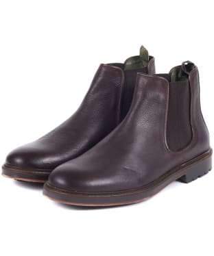 Men's Barbour Wansbeck Chelsea Boots - Dark Brown