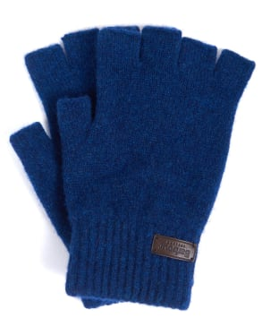 Men's Barbour Edzell Fingerless Gloves - Dress Blue