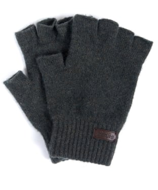 Men's Barbour Edzell Fingerless Gloves - Olive