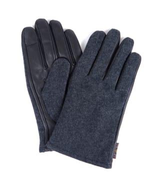 Men's Barbour Meltham Leather Gloves - Grey