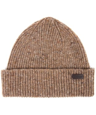 Men's Barbour Lowerfell Donegal Beanie Hat - Fossil Stone