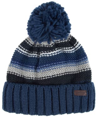 Men's Barbour Harrow Stripe Beanie - Grey / Blue