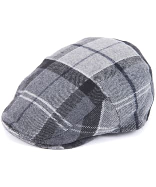 Men's Barbour Gallingale Tartan Flat Cap - Grey / Black