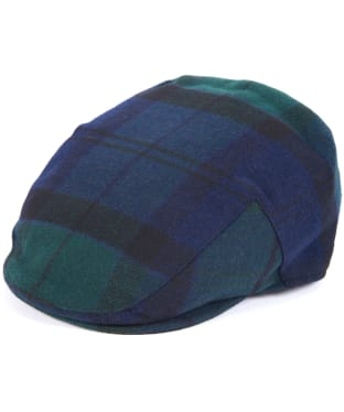Men's Barbour Gallingale Tartan Flat Cap - Black Watch