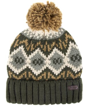 Men's Barbour Malton Beanie - Forest Green / Trench
