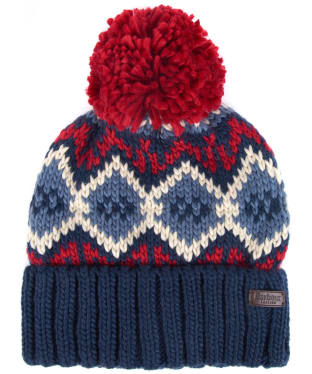 Men's Barbour Malton Beanie - Navy / Red