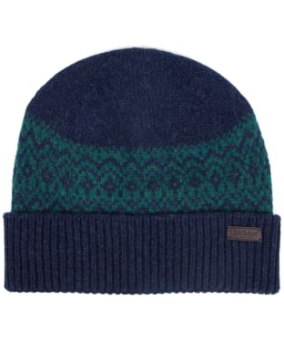 Men's Barbour Doune Beanie - Navy / Green