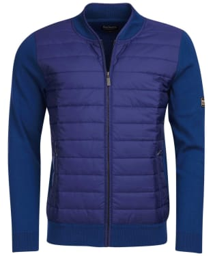 Men's Barbour International Baffle Zip Through Knit - Deep Blue