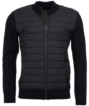 Men's Barbour Carn Baffle Zip Thru Quilted Sweater - Black