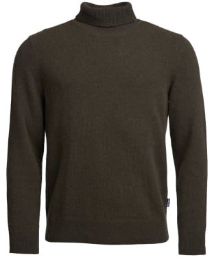 Men's Barbour Leahill Roll Neck Sweater - Olive