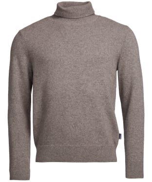 Men's Barbour Leahill Roll Neck Sweater - Stone